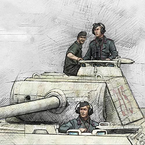 Splindg 1 35 Resina Soldato Modello Soldato carro Armato Pantera della seconda Guerra Mondiale (3 Persone, Senza carro Armato) Miniatura Militare Non assemblata Non Dipinta    K1575