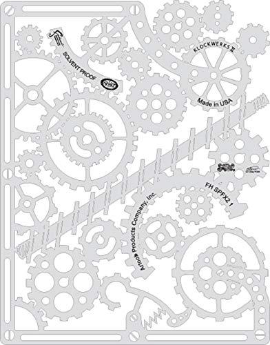 Anest Iwata 4 mini-sjablonen voor airbrush airbrush Artool Steampunk FX2 van Craig Fraser