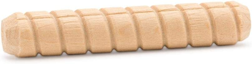 25 per Package Hardwood Spiral Dowel Pins 3//8 inch x 2 inch