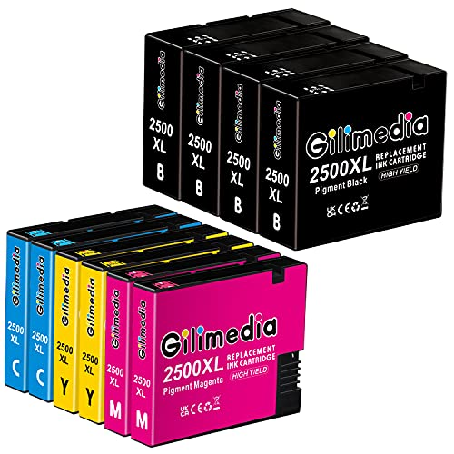 Gilimedia 2500XL Cartuchos de Tinta para Canon PGI-2500XL PGI-2500 Tinta para Canon Maxify MB5050 MB5150 MB5450 MB5350 iB4150 MB4050 MB5155 MB5455 iB4000 iB4100 iB4050 MB5000 MB5100 (Paquete de 10)