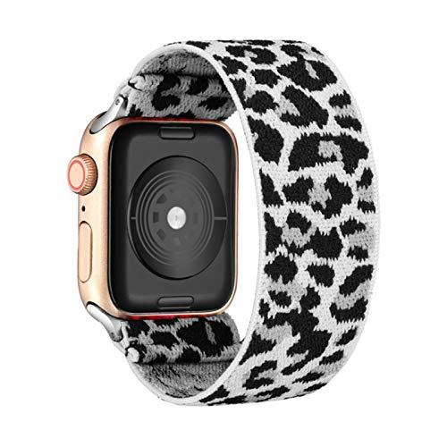 Correa de reloj elástica para Apple Watch 5 6 4 Scrunchie Band 38mm 40mm 42mm 44mm Pulsera de correa informal para mujer para iwatch series 6 5 4