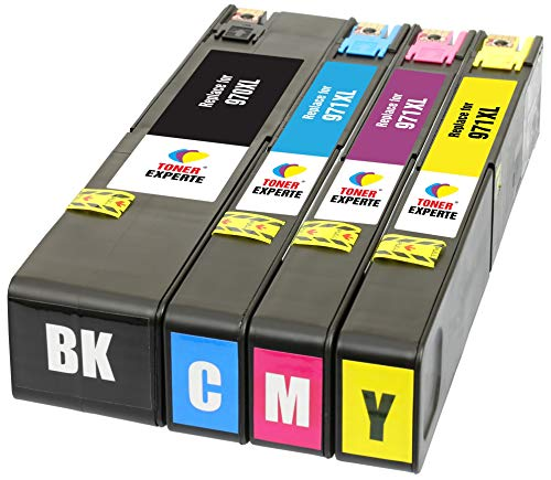 TONER EXPERTE® 4 XL Druckerpatronen Ersatz für HP 970XL 971XL 970 971 XL kompatibel für HP Officejet Pro X576dw X551dw X476dw X451dw CN625AE CN626AE CN627AE CN628AE | hohe Kapazität