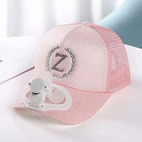 QSs-R Mini sombrero de sol para verano, gorra de béisbol de verano, ventilador de refrigeración por USB, carga solar, protección UV 360º, ahorro de energía, playa, deportes al aire libre