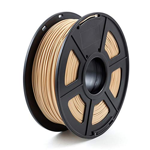 XIAOLUTIANM Accessori per Stampante Stampante 3D filamento PLA 1,75 Millimetri 1kg / 2.2lbs 3D plastica di consumo Materiale 3D filamento PLA (Color : Imitation Wood, Size : Gratuito)