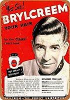 2個 8 x 12 CM メタル サイン - 1953 年 Brylcreem ヘア用 メタルプレート レトロ アメリカン ブリキ 看板
