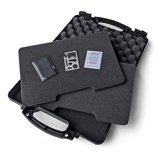 Hard Gun Case Pistol Case – TSA Approved, Lifelong-Durability Hand Gun Cases for Pistols – DS3TeK Handgun Case w/ Dual-Lock System with Pick and Pluck Foam – Military-Grade Pistol Case for Handguns