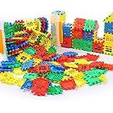apofly Casa plástico Bloques de construcción para la Educación Aprendizaje de construcción Que entrelaza Montado Rompecabezas del Cerebro de Juguete Juego 80Pcs