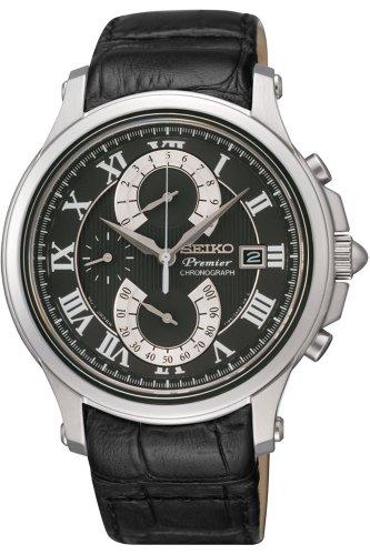 Seiko SPC067P2 Herren-Armbanduhr, Quarz, Chronograph, schwarzes Armband