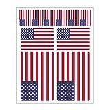 Generisch 10 Stück Flaggen Aufkleber USA Set | Sticker United States of Amerika Autoaufkleber