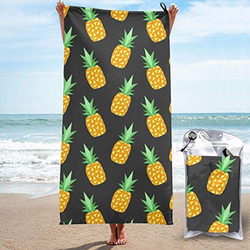YUYUTE Toalla de baño, Beach Towels for Women Men Blanket Summer Fruit Pineapple Ananas Bath Sheets Soft Polyester Outdoors Large Towel Cover for Yoga Mat Hiking Gym Tent Floor