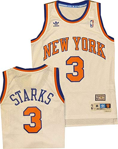 New York Knicks Starks Hardwood Classics Swingman White Jersey (Medium)