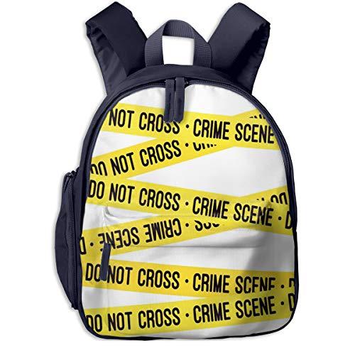 Kinderrucksack Kleinkind Jungen Mädchen Kindergartentasche Science Crime Scene Tape Backpack Schultasche Rucksack