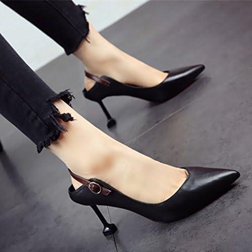 FLYRCX Saison printanière et Estivale Bien Bien et élégant de Chaussures en Cuir tempéraHommest de Hauts Talons Pointus Unique Mode Femme Sexy.  parfait