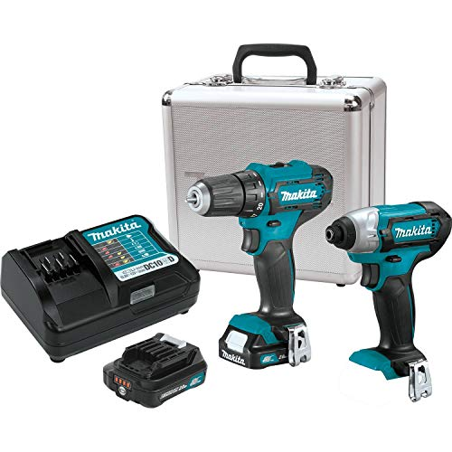 Makita CT232RX 12V max CXT Litio-Ion Inalámbrico 2-Pc. Combo Kit (2.0Ah)