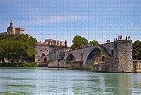 大人のためのジグソーパズルフランスアヴィニョンの橋パズル大人のための1000ピースのジグソーパズル