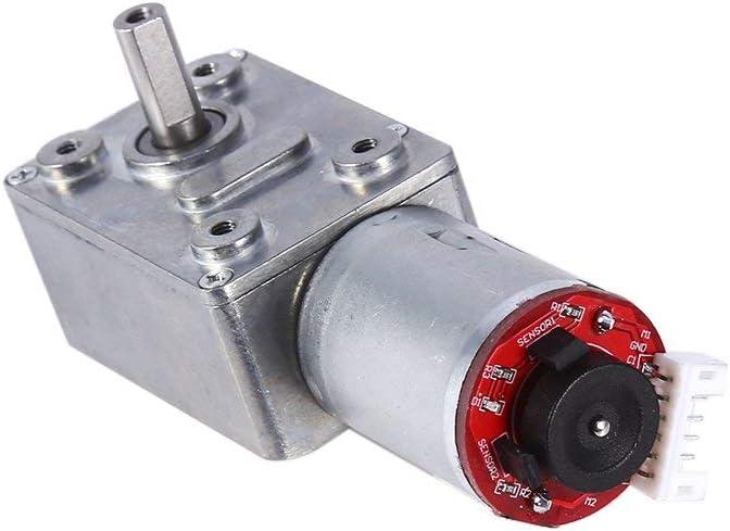 Gleichstrom Getriebemotor Schneckengetriebe Hohes Drehmoment Motor Drehgeber Selbsthemmend Elektrisch Motor Ersatz 20rpm Küche Haushalt