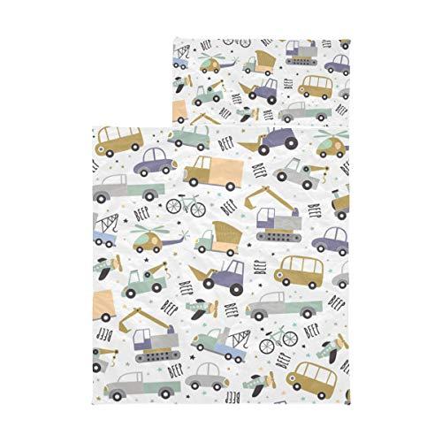 Ausklappbare Nickerchenmatte Cartoon Animation Retro Spielzeug Traktor Kinder Schlafsäcke für Jungen Weiche Mikrofaser Leichte Kleinkind Rollbare Nickerchenmatte Perfekt für Vorschule, Kindertagesst