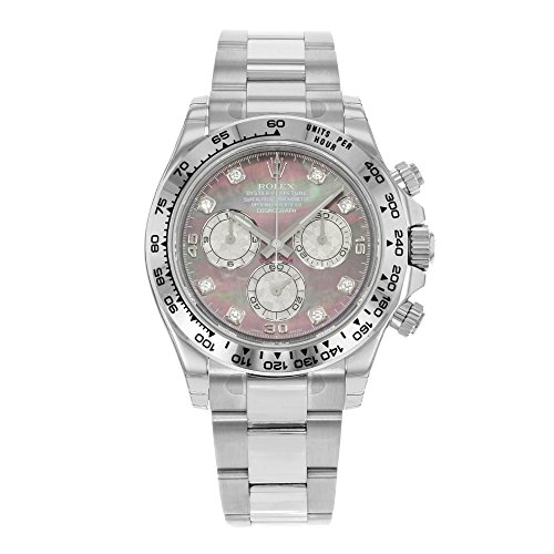 Rolex Daytona 116509 DKLTMD 18K White Gold Automatic Men's Watch