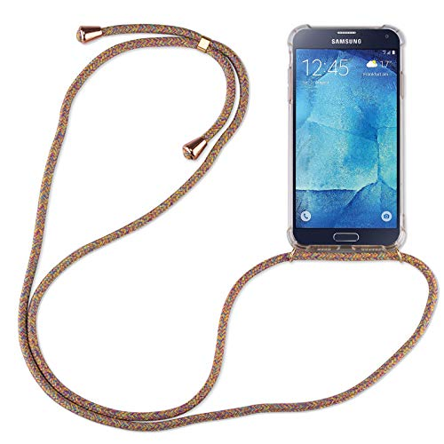 betterfon | Samsung Galaxy S5 Handykette Smartphone Halskette Hülle mit Band - Schnur mit Case zum umhängen Handyhülle mit Kordel zum Umhängen für Samsung Galaxy S5 SM-G900 Rainbow