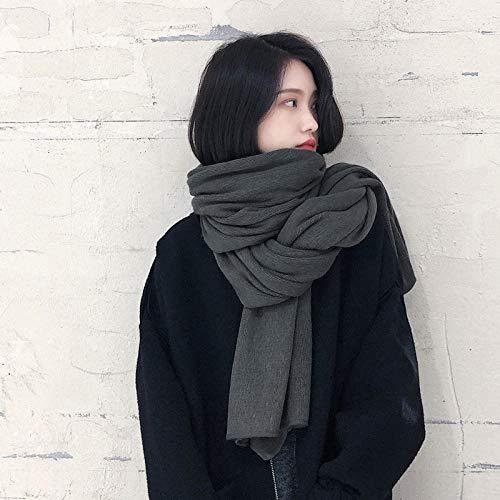 Schal Damen Herbst Und Winter Frauen Einfarbig Verdickt Warmen Schal Damenmode Vielseitige Schal Schal Geschenk Schals-Style_No.2_200-50Cm