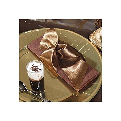 Fez-Moi - Cinta de satén (60 mm), color marrón