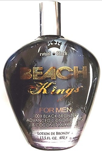 Beach Kings 100x Black Bronzer for Men Indoor Tanning Bed Lotion By Tan Inc. by Beach Kings