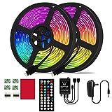 Tira de luz LED 5050RGB set 10M 300 cuentas de lámpara 12V 44 tecla control remoto por infrarrojos música ritmo control de voz