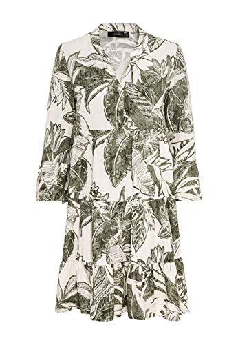 HALLHUBER Hängerkleid mit Maxi-Blätterprint weit geschnitten Salbei, 36