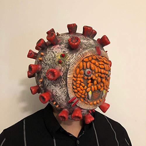 WWJJTT Maschera del Gioco del Fumetto di Protezione dell'ambiente Creativa della Maschera della Maschera del Lattice della Maschera del coronavirus di Halloween-Giallo