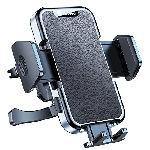 VICSEED Military-Grade Car Phone Holder Mount, [Upgrade Never Fall Off & Break] Universal Air Vent Cell Phone Holder for Car Easy Clamp Vehicle Car Vent Phone Mount Fit for All iPhone Samsung Galaxy