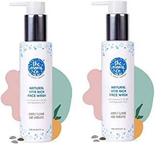 The Moms Co. Natural Vita Rich Face Wash | All Skin Types | With Vitamins C, B3 & B5, Neem Extract and Witch Hazel, 100ml...