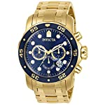 Invicta-Mens-0073-Pro-Diver-Collection-Chronograph-18k-Gold-Plated-Watch-with-Link-Bracelet