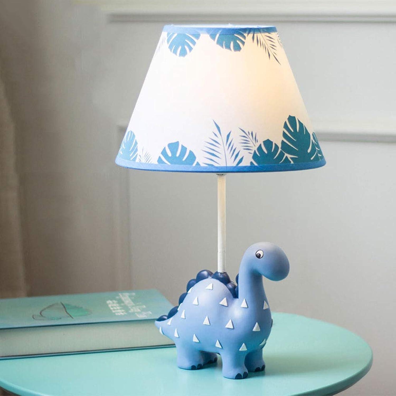 XiuXiu Nachttischlampe Nachttischlampe Dinosaurier für Kinder im Schlafzimmer Blau-42cm
