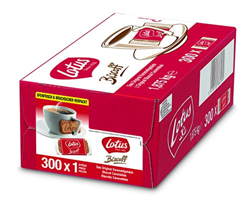 Lotus Biscoff, 300 x 1 Stück, 2er Pack (2 x 1.875 kg)