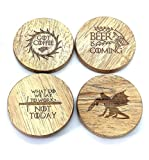 Coaster Bottle Opener, Magnetic, For Beer, coffee, Fun! Man Cave and Fridge Bling!