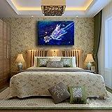 zzlfn3lv Art Abstract Canvas Foto Frame 1 stuk Kwallen Onderwater Goud Vis Schilderen Vita animale animale Poster decorazione Della casa-No Frame-40x60cm