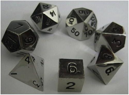 artículos de promoción Metal Dice Polyhedral Set of 7 die (7) plata by by by Metallic Dice Games  suministro de productos de calidad