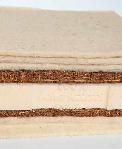 Asa Matratzen Schafschurwolle-Kokos-Latex–Futon: 6 Lagen Schafschurwolle / 2 Lagen Kokosfaser / 1 Lage Naturlatex 4cm … (90 x 200 cm)