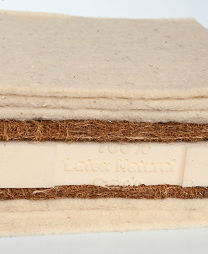 Asa Matratzen Schafschurwolle-Kokos-Latex–Futon: 6 Lagen Schafschurwolle / 2 Lagen Kokosfaser / 1 Lage Naturlatex 4cm … (120 x 200 cm)
