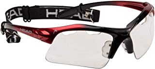 HEAD Unisex-Adult Racquetball Goggles 988000_RDBK, Clear/Red