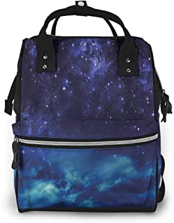 Diaper Bag Backpack for Mom and Dad Multi-Functional Travel Back Pack, Night Sky Deep Outer Space Nebula, Large Capacity, Waterproof and Stylish
