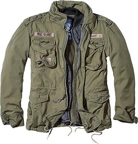 Brandit M65 Giant Feldjacke Oliv NEU Army Winterjacke US Parka Outdoor Jacke, Größe:7XL