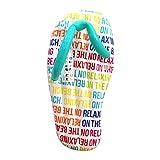 Iggi 1,5m géant Gonflable Flip Flop Piscine Chaise Longue Matelas Gonflable Eau Jouet, Multicolore–Texte