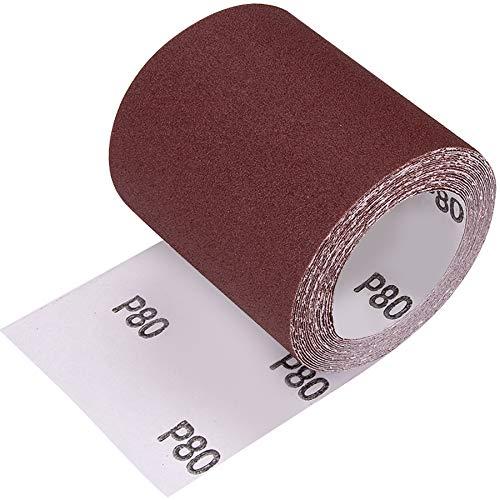 Schleifpapier Rolle Schleifrolle Sandpapier Professional Schleifrolle Schleifpapier auf Rolle 5m x 93mm (80#)
