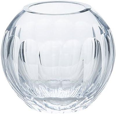 ZLR Florero de Cristal Transparente esférico Minimalista Moderno de la Sala de Estar del hogar Florero