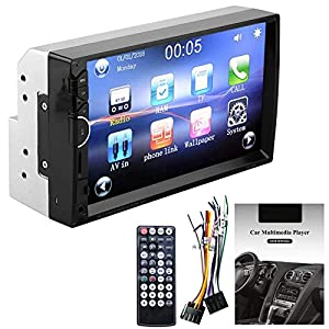 MP5 Player 7 Inch Double Din Touch Screen Car BT MP5 Player Stereo FM Radio Bluetooth Sound Modified Car Music Video Receiver Support BT Hands-free Rearview Camera Function