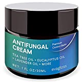 Evagloss Antifungal Cream Repair Anti-Itch Balm for Face & Body, Athletes Foot, Ringworm, Eczema, Dry Skin, Jock Itch, Nail Fungal Infections, Antibacterial Intense Moisture, Gentler & Safer