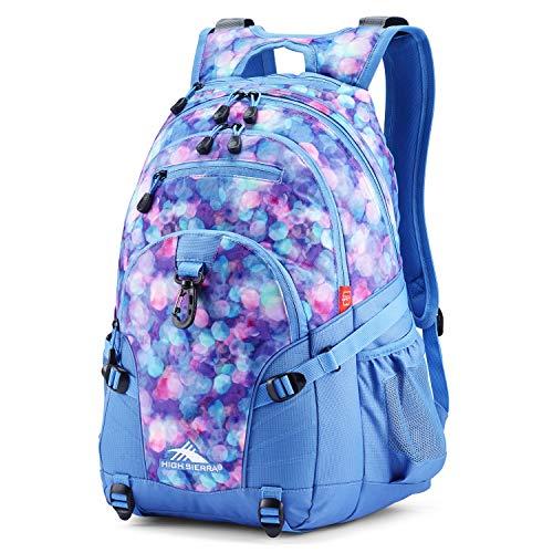 High Sierra Loop Backpack, School, Travel, or Work Bookbag with tablet sleeve, Shine Blue/Lapis, One Size