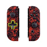 eXtremeRate Carcasa Joy-con Botones Completos D-Pad para Nintendo Switch Funda de Agarre Reemplazable Tacto Suave Shell para Nintendo Switch No Incluye la Carcasa de la Consola (Demonios y Monstruos)