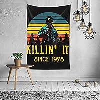 タペストリー 1978年以来キリンイット Killin' It Since 1978 ピクニックテーブルカバーとカーテン 壁掛けタペストリー 寝室 壁掛け布 壁飾り ブランケット ビーチタオル 装飾 ウォール 吊り ビーチ タオル リビングルーム 部屋 窓カーテン 個 ベッドカバー カウチ 毛布